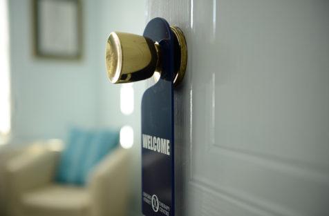 welcome door hanging sign